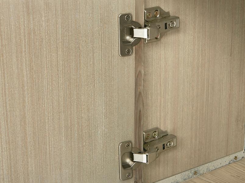Tall Tim Slimline Shelves Cupboard Door Hinge Detail