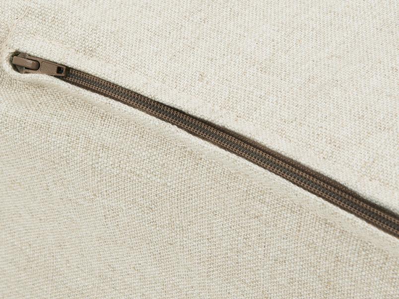 Multi Storey Linin Footstool Zip Detail