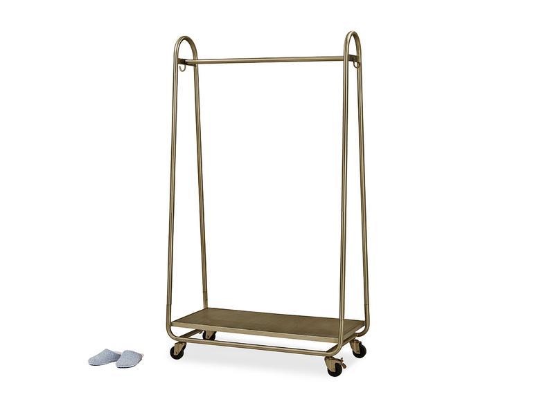 Bellboy Brass Free Standing Hanging Rail