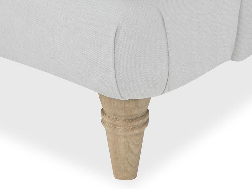 Cinema Upholstered Love Seat leg detail