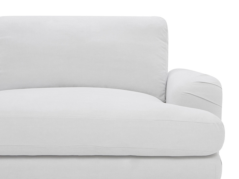 Cinema Upholstered Love Seat Low Arm Detail