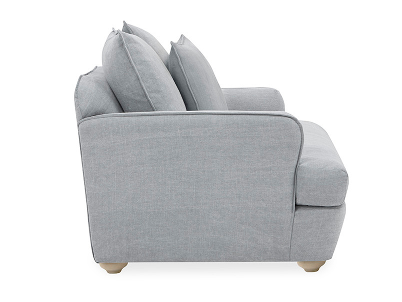 Smooch Deep Upholstered Love Seat Side