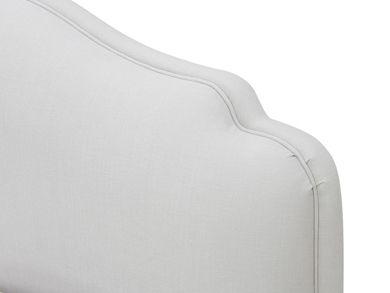 Sugar Puff French Style Bed Padded Headboard Detail