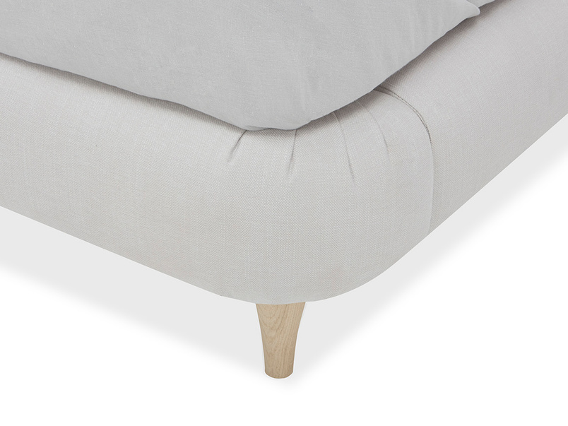 Sugar Puff French Style Upholstered Bed Corner