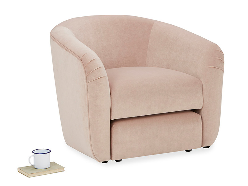 Tootsie Bucket Armchair with tuck away footstool