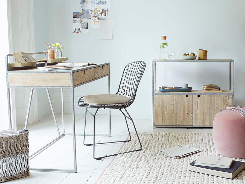 Gubbins Clever Storage Metal Leg Desk
