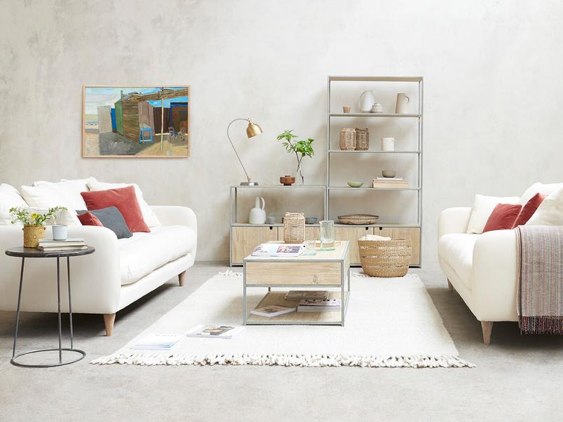 Skinny Minny Upholstered Super Deep Comfy Sofa