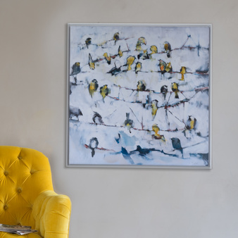 Little Yellow Birds canvas print Ben Lowe