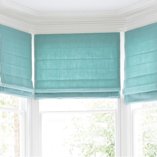 Made to order fabric Roman Blinds