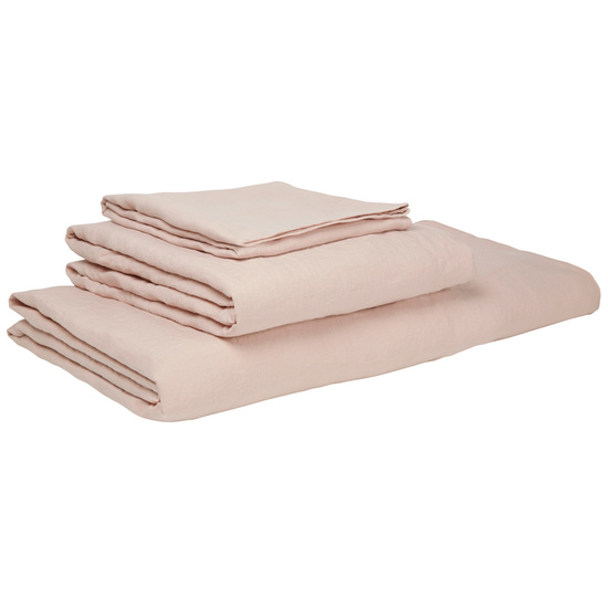 Lazy Linen bed linen in Dusty Pink