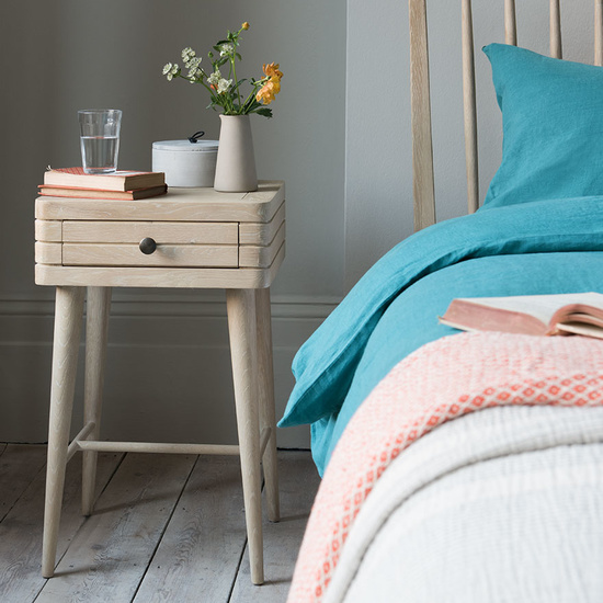 Little Groover wooden tongue groove bedside table