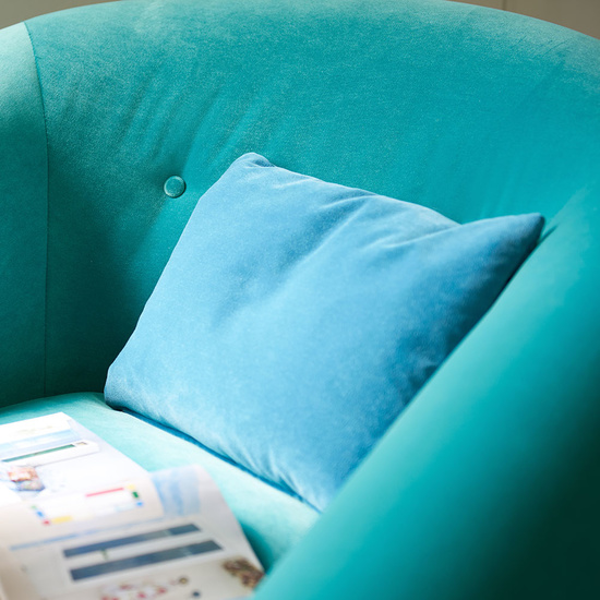 Schnaps tub upholstered armchair