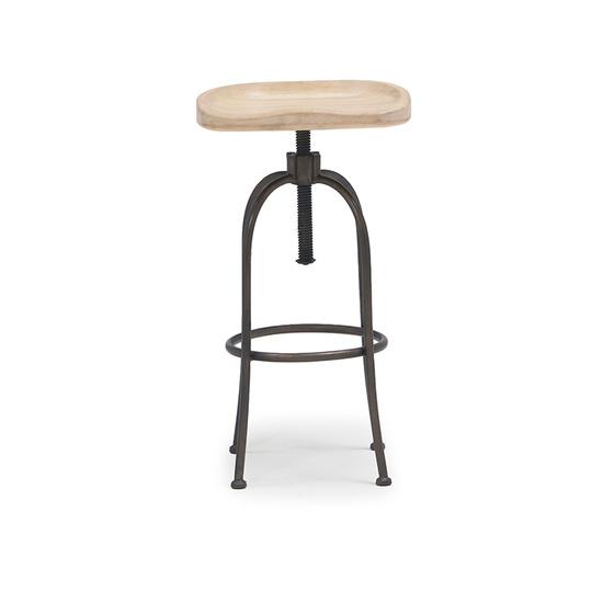 Tractor adjustable bar stool