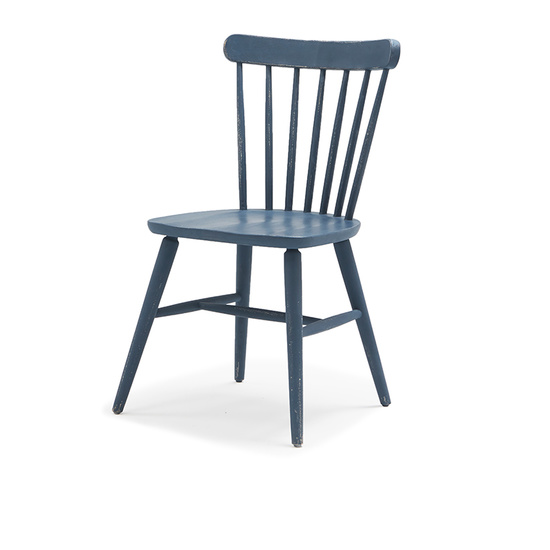 Natterbox kitchen chair in Inky Blue paint