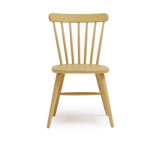Natterbox kitchen chair in Good Yellow paint