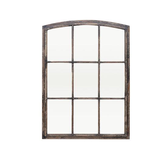 Kempton window pane wall mirror