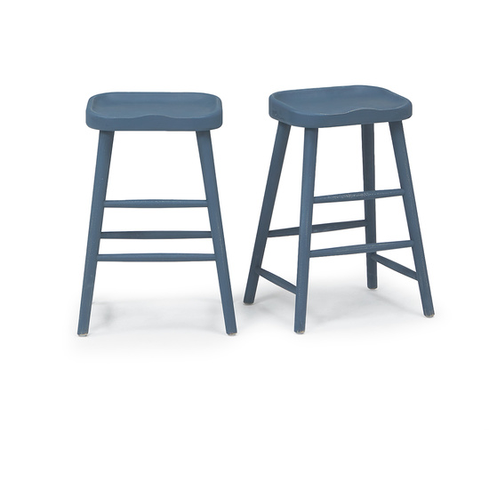 Bumble kitchen bar stool in Inky Blue