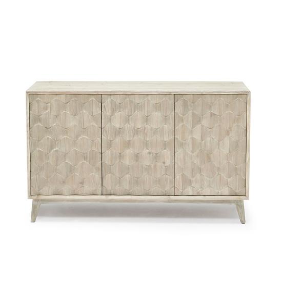 Grand Orinoco patterned wood sideboard