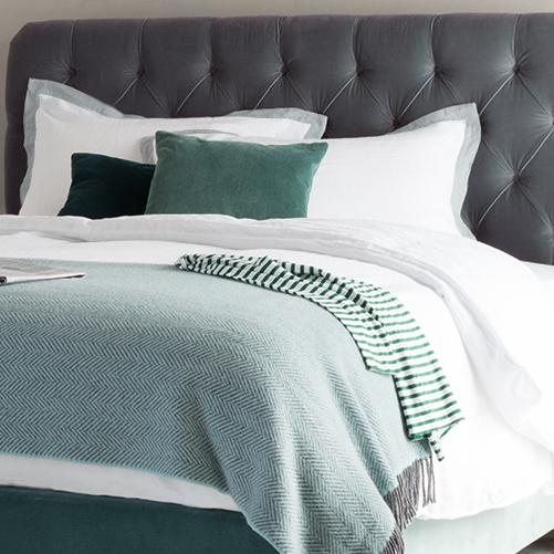 Light Grey Lazy Daze bed linen