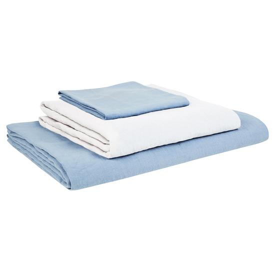 Lazy Linen bed linen in Cornflower Blue
