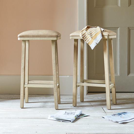 Tall Bumpkin leather kitchen bar stool