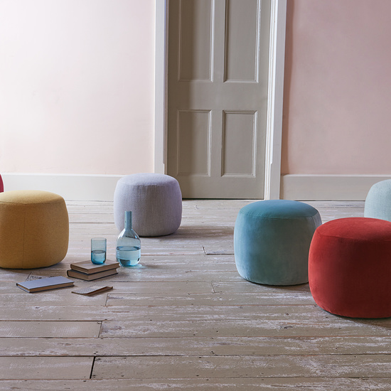Little Cheese upholstered footstools