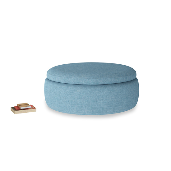 Moroccan Blue Clever Woolly Fabric Round Pot Pie