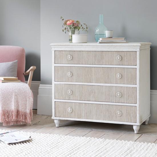Tilda reclaimed pine handpainted chest of drawers