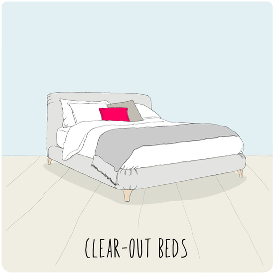 Clear-out beds