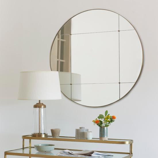 Woogie Round Frameless Wall Mirror