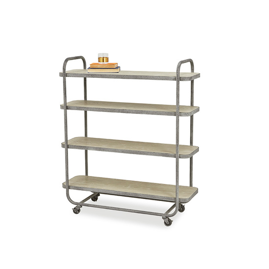 Busboy Industrial Style trolley shelves angled