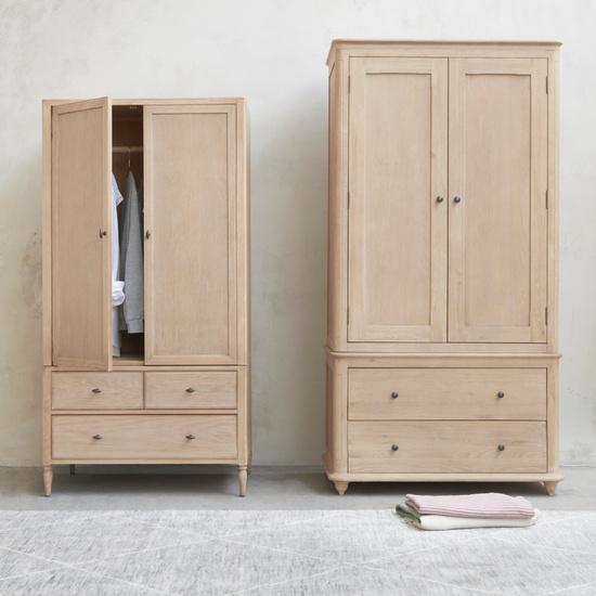 Valentine and Amory Wooden French Style Wardrobe Range