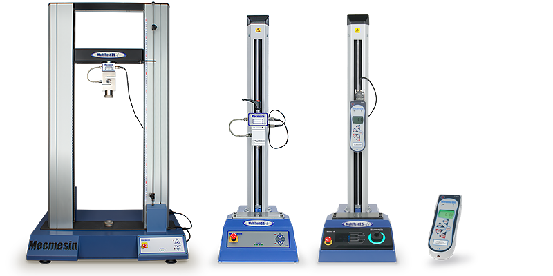 Mecmesin force testing equipment range of some systems and instruments