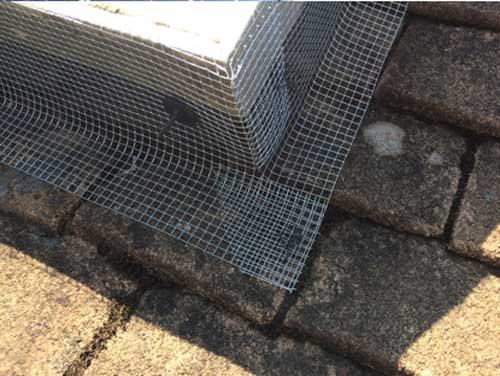 Pigeon proofing to stop pigeons nest under solar panels