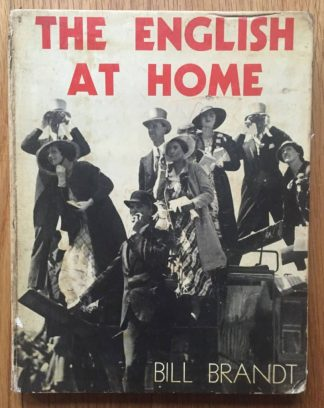 The photography book cover of The English at Home by Bill Brandt. In hardcover white.