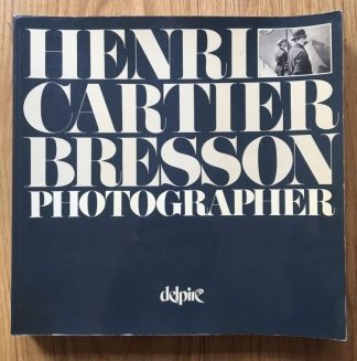 The photography book cover of Henri Cartier Bresson Photographer. In Softcover blue with the title in white.