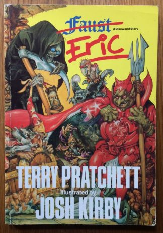 The graphic novel book cover of Eric by Terry Pratchett and Josh Kirby. In softcover.