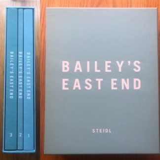 The photography book cover of Bailey's East End by David Bailey. Hardback.