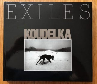 The photography book cover of Exiles by Joseph Koudelka. In hardcover black.