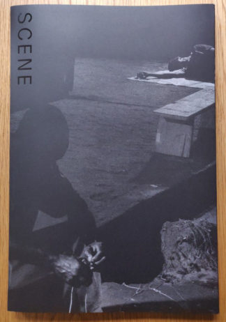 The photography book cover of Scene by Alex Majoli. In softcover matte black, with the title in glossy black.