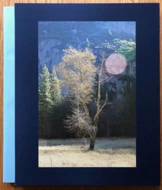 The photography book cover of Yosemite by Cathrine Opie. In slipcased hardcover blue.