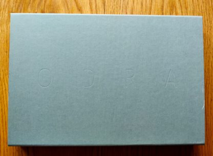 The photography book cover of Odra by Mikolaj Nowacki. In slipcased hardcover with a limited edition print.