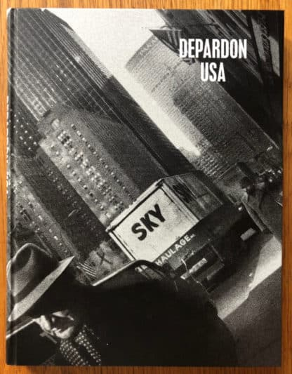 The photography book cover of Depardon - USA by Raymond Depardon. In hardcover black.
