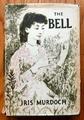 The book cover of The Bell by Iris Murdoch. In dust jacketed hardcover white.