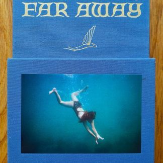 The photography book cover of Adventiures in the Nearby Far Away by Ed Templeton. In slipcased hardback blue.
