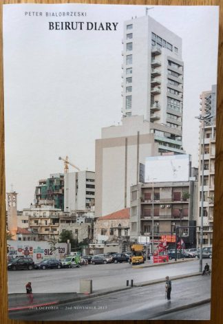 The photography book cover of Beirut Diary by Peter Bialobrzeski. In softcover.