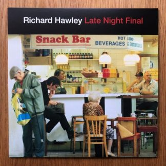 The music vinyl of Late Night Final - Red Vinyl by Richard Hawley. In transparent red.