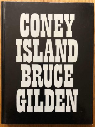 The photography book cover of Coney Island by Bruce Gilden. In hardcover black gloss.