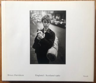 The photography book cover of England / Scotland 1960 by Bruce Davidson. In dust jacketed hardcover.