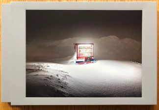 The photography book cover of Roadside Lights Seasons: Winter by Eiji Ohashi. In slipcased hardcover grey.
